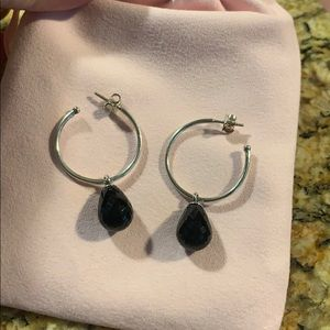 Authentic Pandora sterling silver hoops !!!